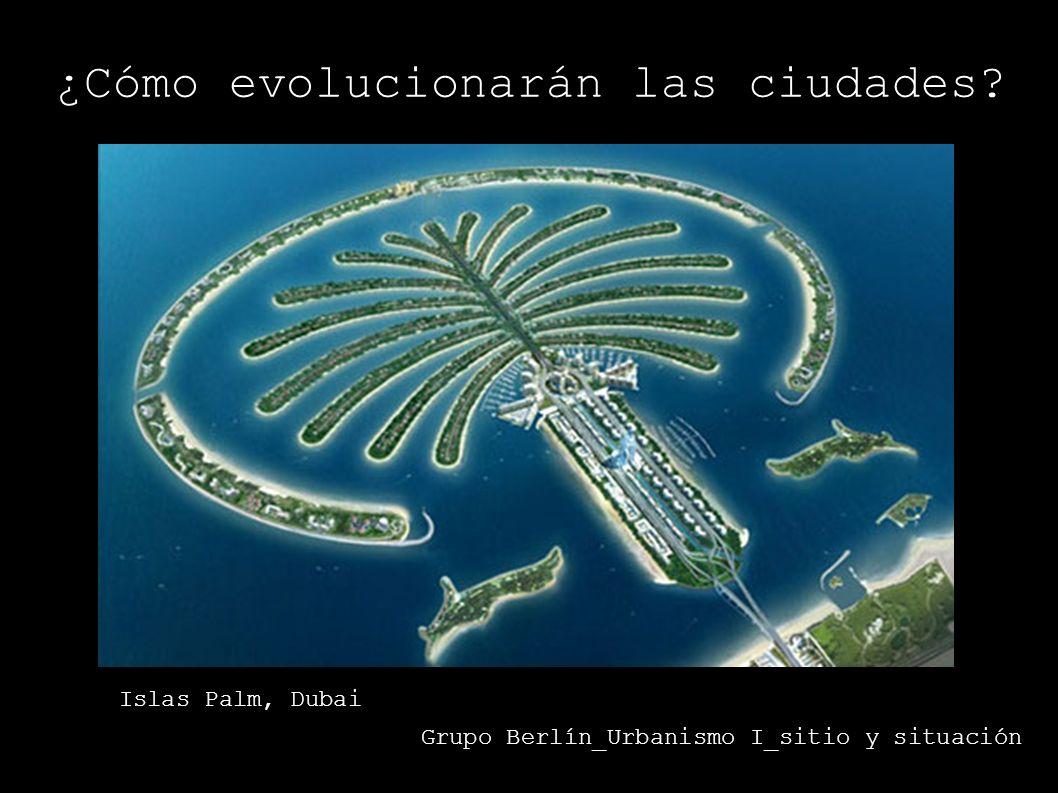 ¿Cómo evolucionarán las ciudades? Grupo Berlín_Urbanismo I_sitio y situación Islas Palm, Dubai