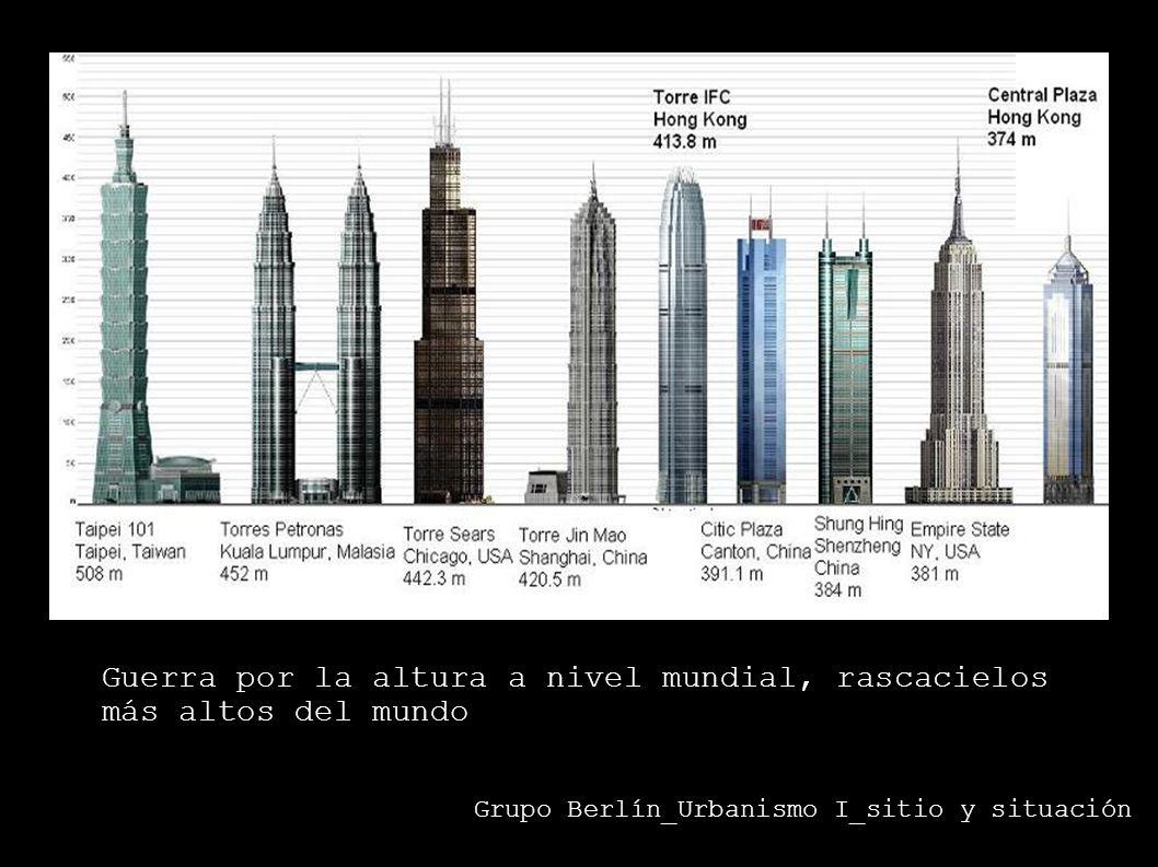 Grupo Berlín_Urbanismo I_sitio y situación Guerra por la altura a nivel mundial, rascacielos más altos del mundo