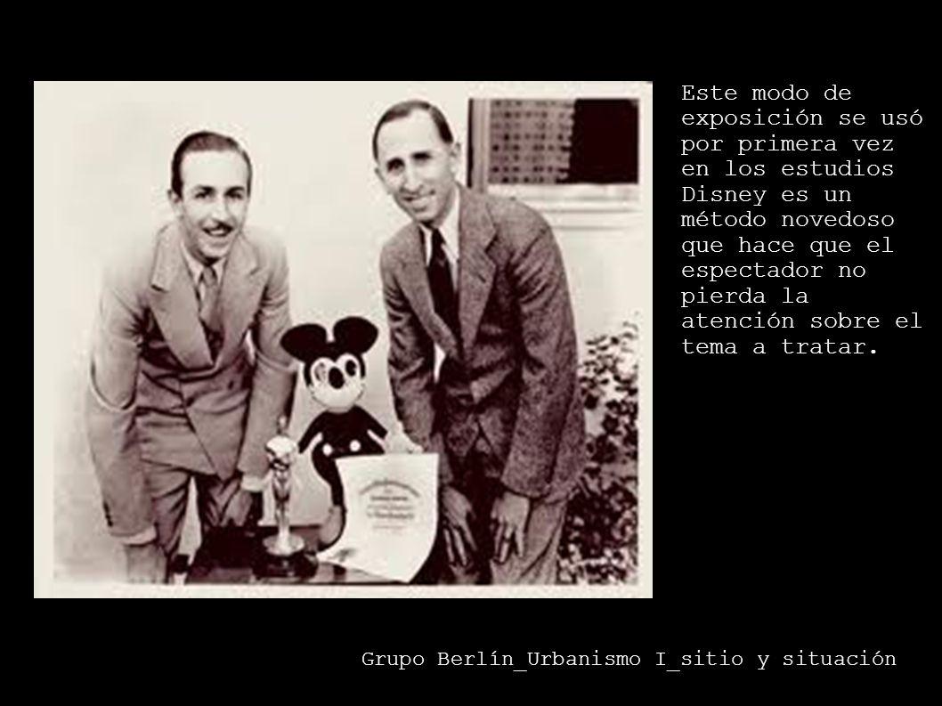 Este modo de exposición se usó por primera vez en los estudios Disney es un método novedoso que hace que el espectador no pierda la atención sobre el