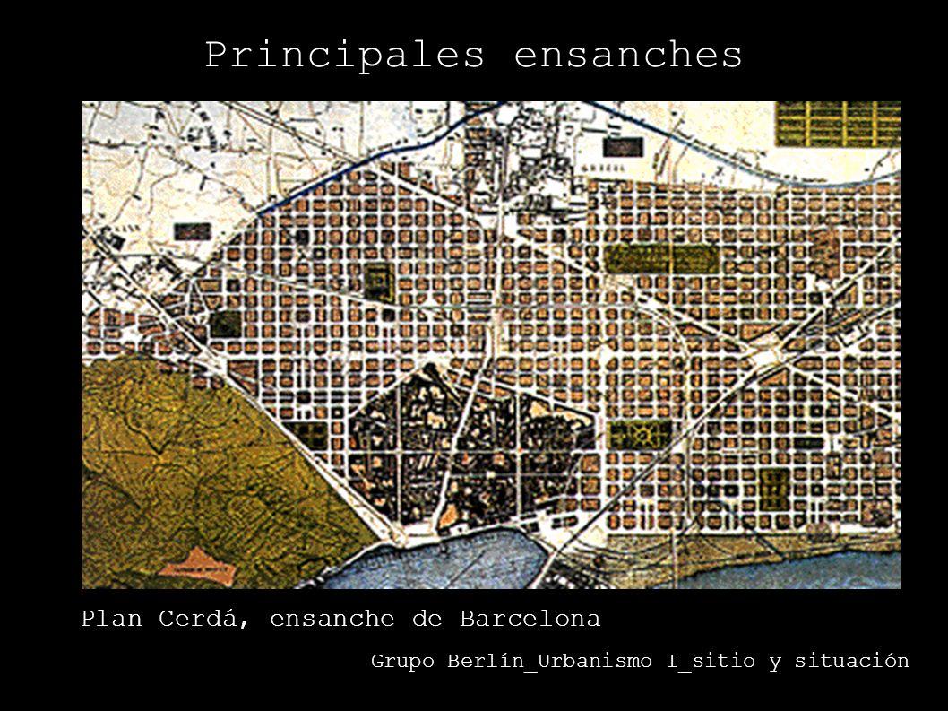 Plan Castro, ensanche de Madrid. Grupo Berlín_Urbanismo I_sitio y situación