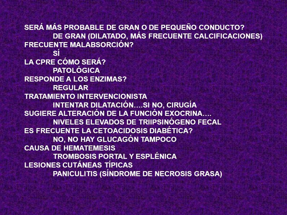 CALCIFICACIONES PANCREÁTICAS