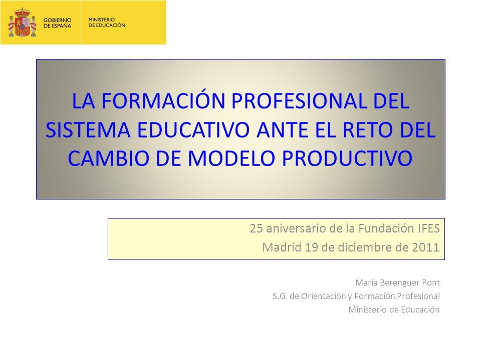 Se amplían las enseñanzas de Formación Profesional Se incluyen en las enseñanzas de Formación Profesional: Los ciclos formativos de grado medio.