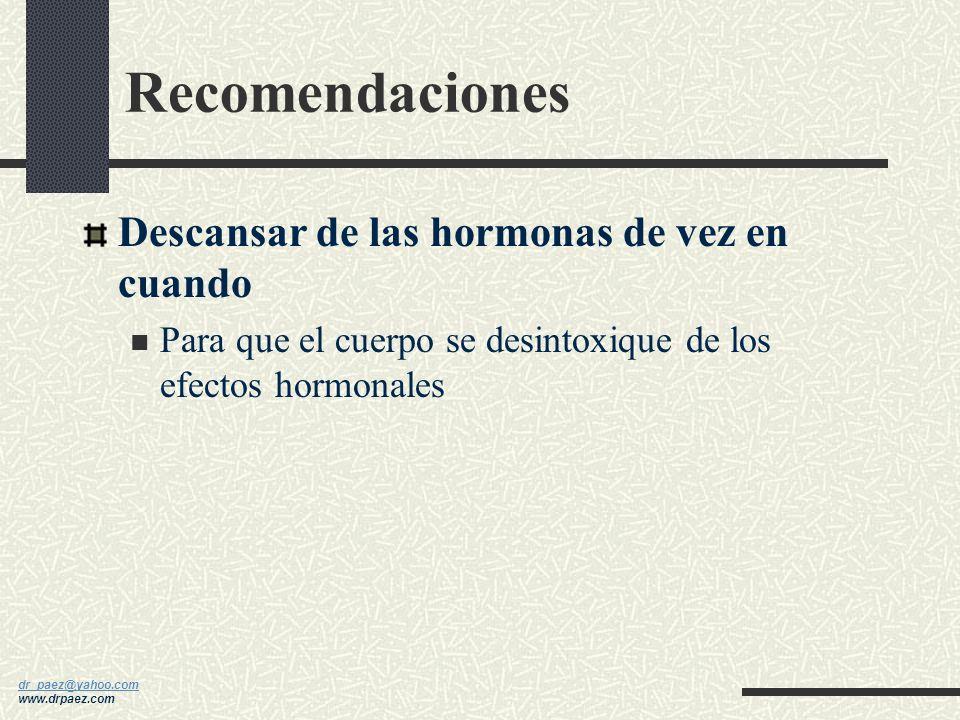 dr_paez@yahoo.com dr_paez@yahoo.com www.drpaez.com Recomendaciones Restaurar naturalmente la progesterona Los niveles de progesterona comienzan a dism