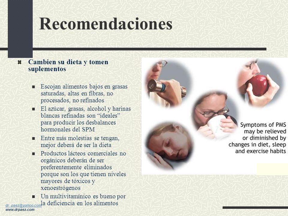 dr_paez@yahoo.com dr_paez@yahoo.com www.drpaez.com Descansar de las hormonas de vez en cuando Para que el cuerpo se desintoxique de los efectos hormon