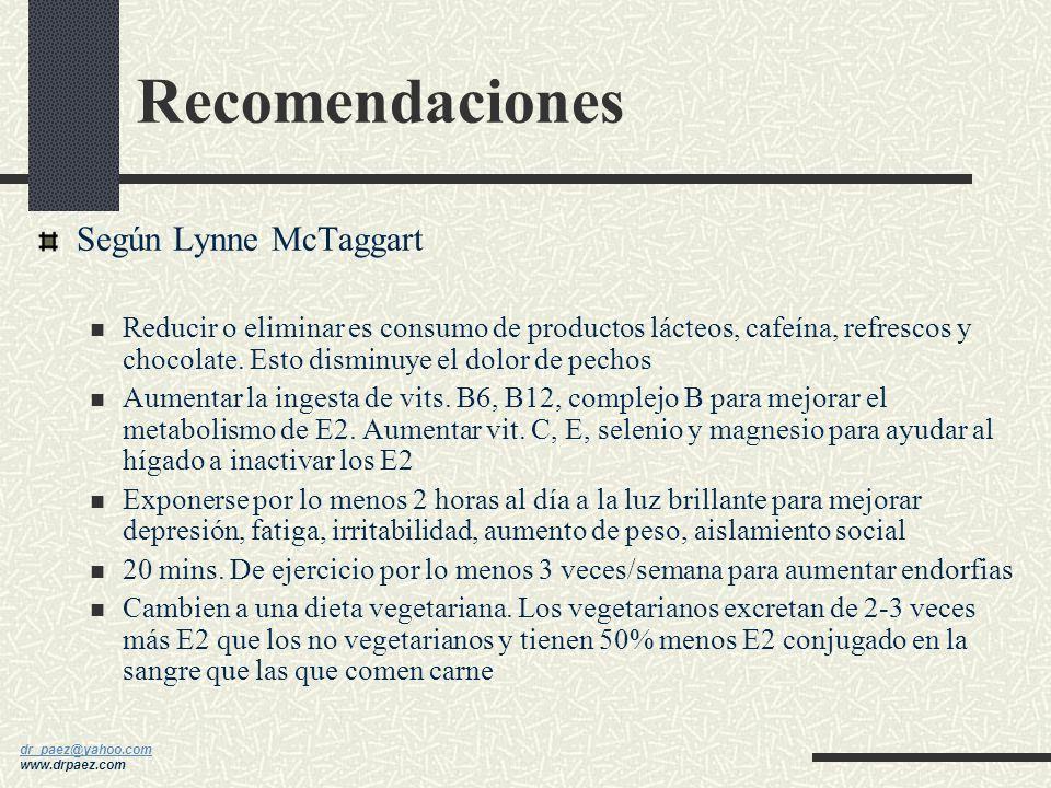 dr_paez@yahoo.com dr_paez@yahoo.com www.drpaez.com Cambios en estilo de vida Comer inteligente y frecuentemente Ejercitar frecuentemente Utilizar de m