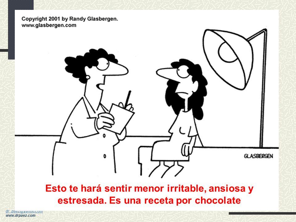 dr_paez@yahoo.com dr_paez@yahoo.com www.drpaez.com Aumento de magnesio (mejora la intolerancia a carbohidratos): mínimo 400 mgs) Vitamina B6 (100 mgs)