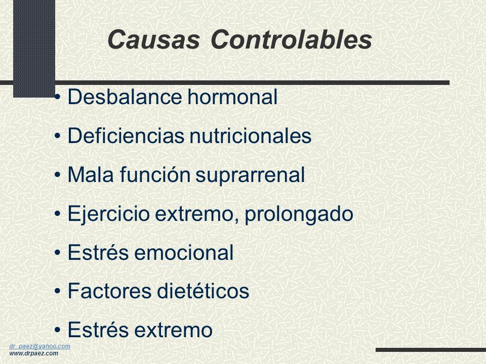 dr_paez@yahoo.com dr_paez@yahoo.com www.drpaez.com Causas CAUSAS ANATOMICAS Enfermedades autoinmunes Embarazo Poliglandular Síndrome de Asherman Falla
