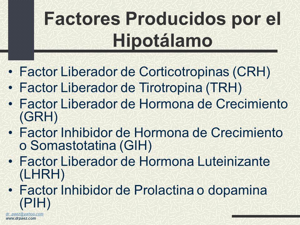 dr_paez@yahoo.com dr_paez@yahoo.com www.drpaez.com Hormonas Producidas por la Hipófisis Hormona de Crecimiento (HC) Prolactina Hormona Estimulante de