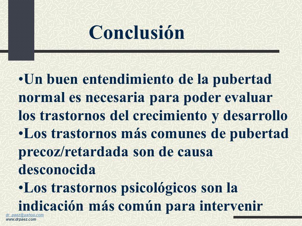 dr_paez@yahoo.com dr_paez@yahoo.com www.drpaez.com Laboratorio: LH, FSH, estradiol, testosterona, esteroides suprarrenales, pruebas de provocación del