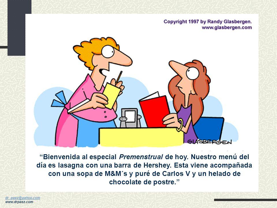 dr_paez@yahoo.com dr_paez@yahoo.com www.drpaez.com SPM-C Antojos por dulces o azúcar, aumento del apetito, dolores de cabeza, fatiga El consumo elevad