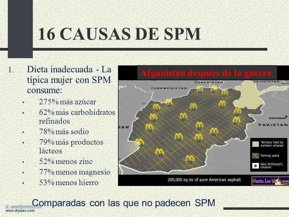 dr_paez@yahoo.com dr_paez@yahoo.com www.drpaez.com SPM-H Retención de líquidos, inflamación de cara, manos y pies, aumento de peso, congestión mamaria