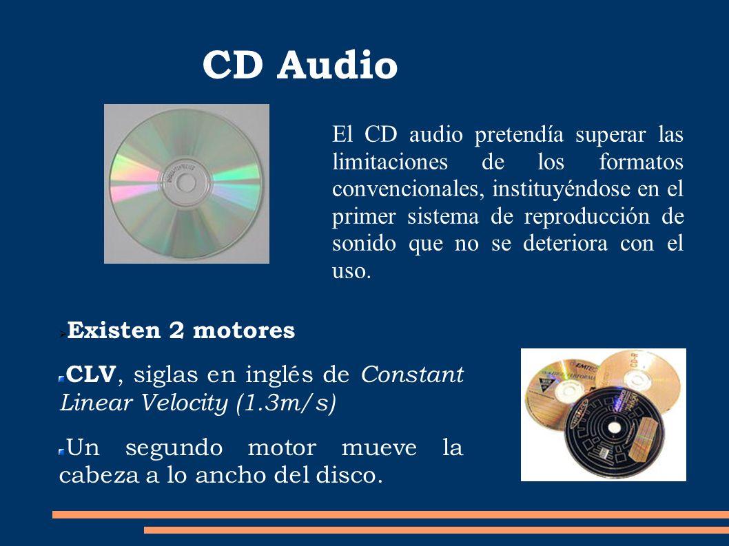 CD Audio El CD audio pretendía superar las limitaciones de los formatos convencionales, instituyéndose en el primer sistema de reproducción de sonido