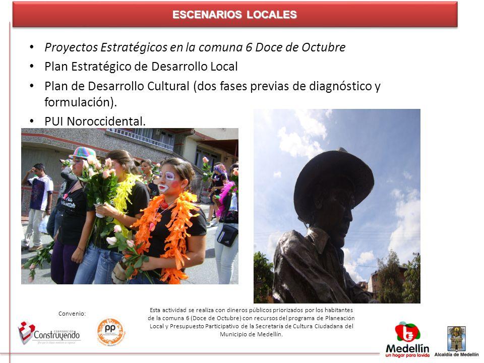 Convenio: Esta actividad se realiza con dineros públicos priorizados por los habitantes de la comuna 6 (Doce de Octubre) con recursos del programa de