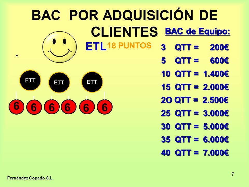 7 BAC POR ADQUISICIÓN DE CLIENTES ETT 66 6.