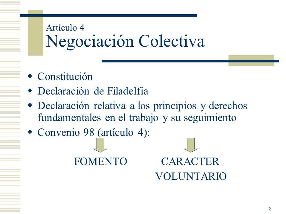 8 Constitución Declaración de Filadelfia Declaración relativa a los principios y derechos fundamentales en el trabajo y su seguimiento Convenio 98 (ar