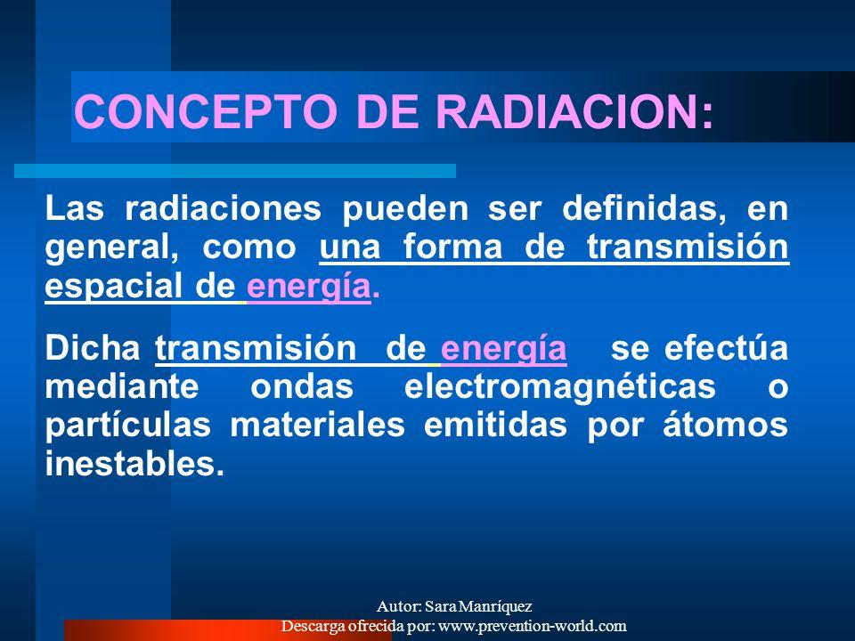 Autor: Sara Manríquez Descarga ofrecida por: www.prevention-world.com Se pueden mencionar : - rayos infrarrojos - luz visible - radiación ultravioleta