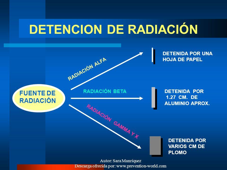 Autor: Sara Manríquez Descarga ofrecida por: www.prevention-world.com ¿POR QUÉ SON UN RIESGO CRITICO VIGILADO? Las diferentes formas de radiación ioni