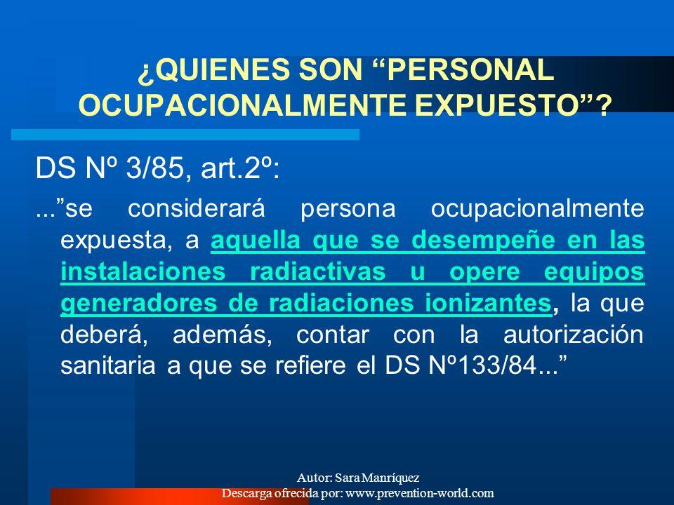 Autor: Sara Manríquez Descarga ofrecida por: www.prevention-world.com LIMITACION INTERNACIONAL DE LAS DOSIS INDIVIDUALES : dosis límites recomendadas