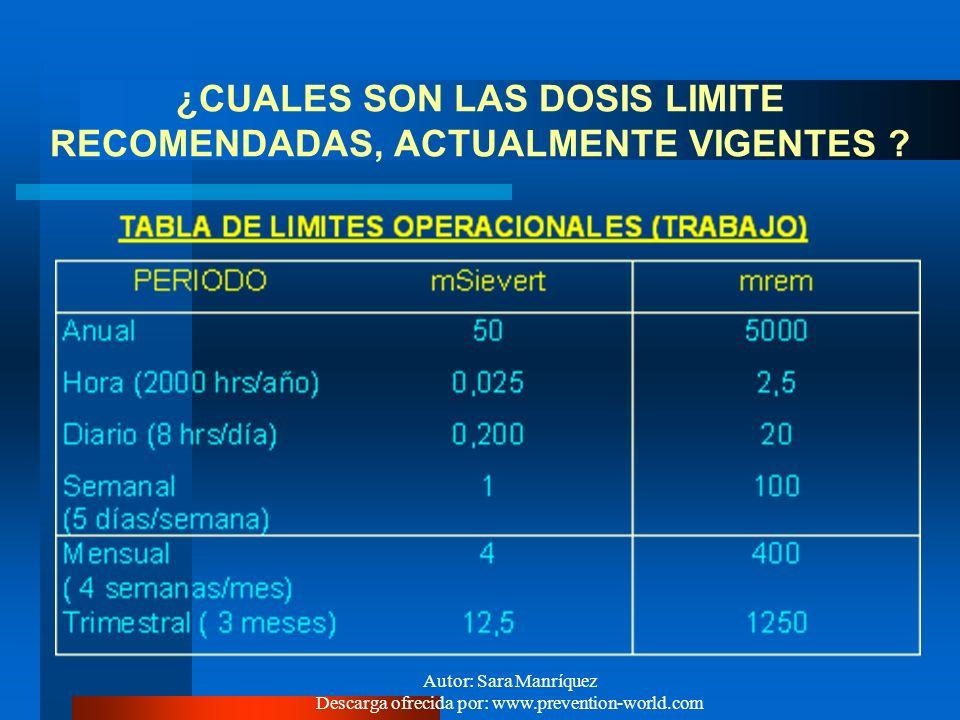 Autor: Sara Manríquez Descarga ofrecida por: www.prevention-world.com Clasificadas en el D.S.Nº 594/2.000 como un riesgo físico, al que se considera q