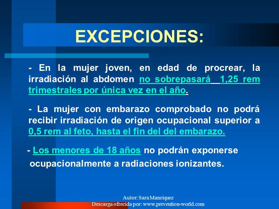 Autor: Sara Manríquez Descarga ofrecida por: www.prevention-world.com ¿CUALES SON LAS DOSIS LIMITE RECOMENDADAS, ACTUALMENTE VIGENTES ?