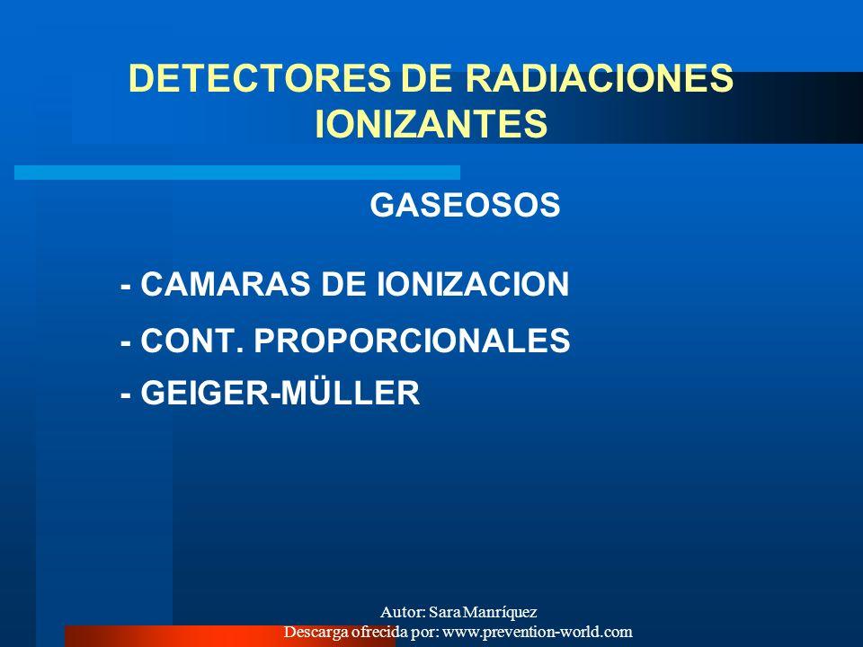 Autor: Sara Manríquez Descarga ofrecida por: www.prevention-world.com Rad. X y Rad. Gamma Alto poder de penetración Bajo poder de ionización Riesgo de
