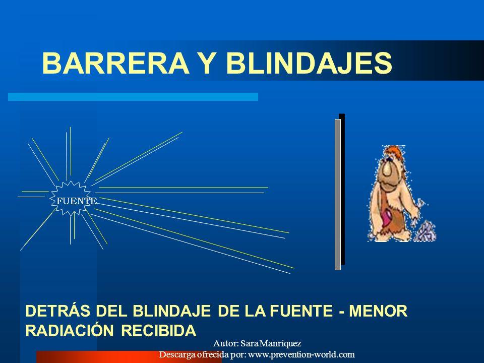Autor: Sara Manríquez Descarga ofrecida por: www.prevention-world.com A MENOR TIEMPO CERCA DE LA FUENTE, MENOR RADIACIÓN RECIBIDA FUENTE TIEMPO DE PER