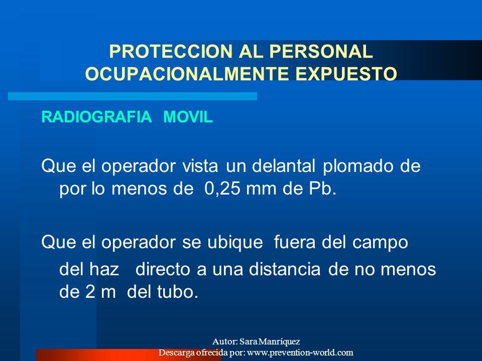- Desarrollar una vigilancia radiológica individual y grupal de las personas expuestas. - Mantener un historial dosimétrico individual disponible para
