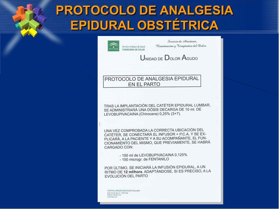 PROTOCOLO DE ANALGESIA EPIDURAL OBSTÉTRICA