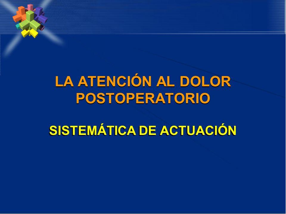 LA ATENCIÓN AL DOLOR POSTOPERATORIO SISTEMÁTICA DE ACTUACIÓN
