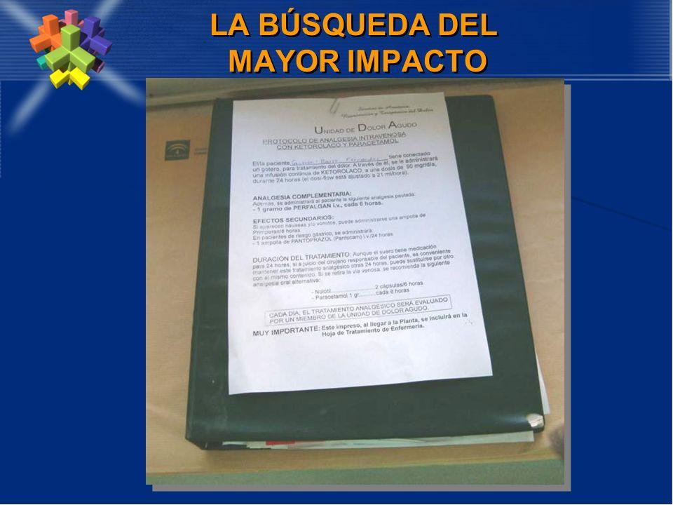 LA BÚSQUEDA DEL MAYOR IMPACTO