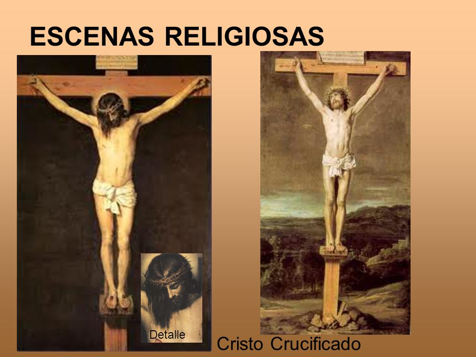 ESCENAS RELIGIOSAS Cristo Crucificado Detalle