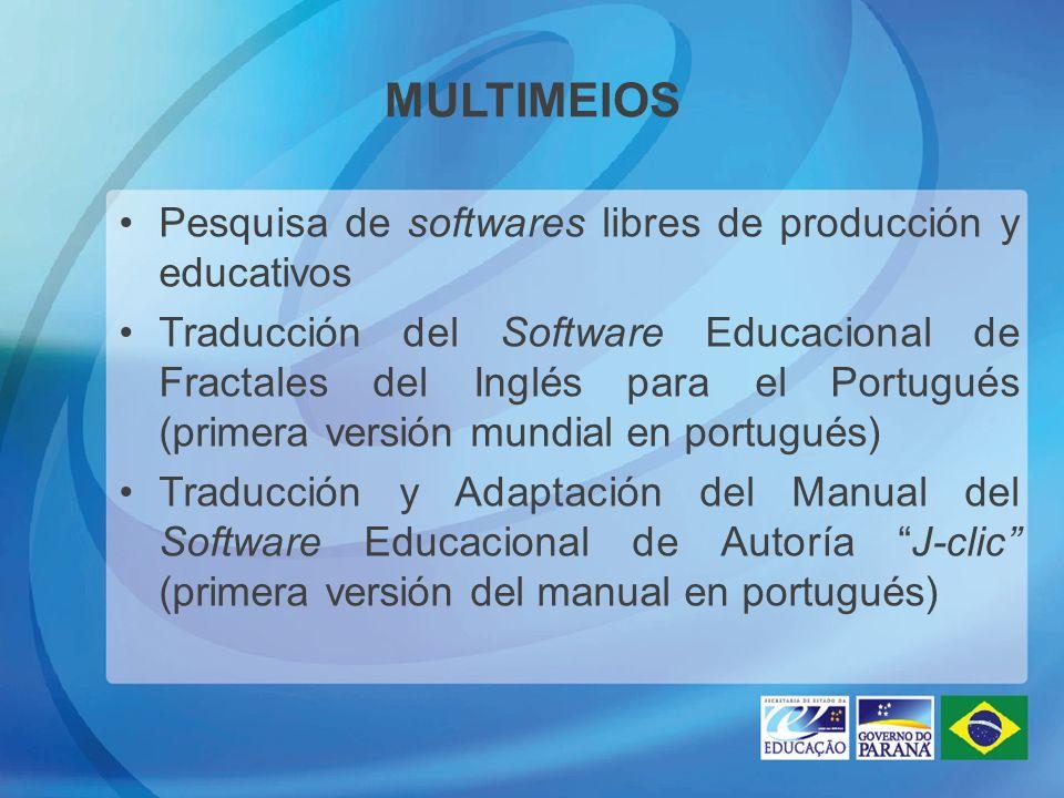 MULTIMEIOS Pesquisa de softwares libres de producción y educativos Traducción del Software Educacional de Fractales del Inglés para el Portugués (prim