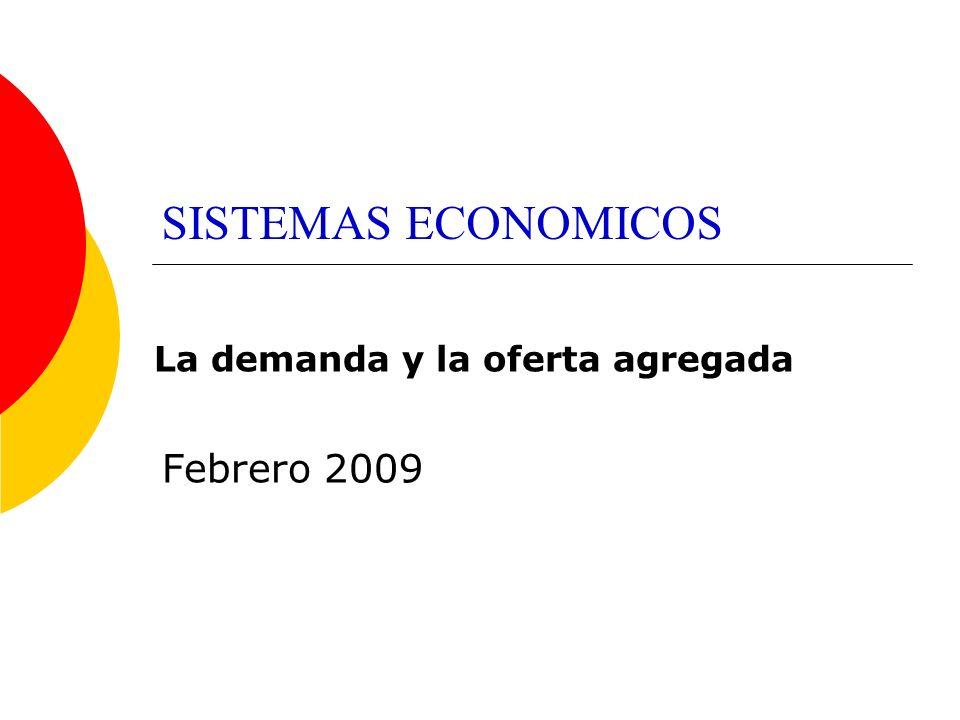 SISTEMAS ECONOMICOS Febrero 2009 La demanda y la oferta agregada