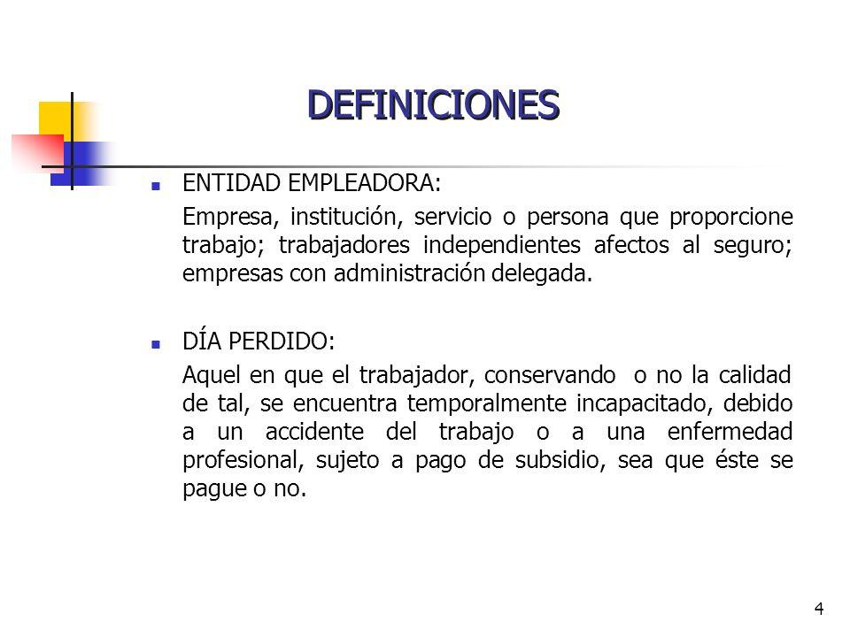 4 ENTIDAD EMPLEADORA: Empresa, institución, servicio o persona que proporcione trabajo; trabajadores independientes afectos al seguro; empresas con ad