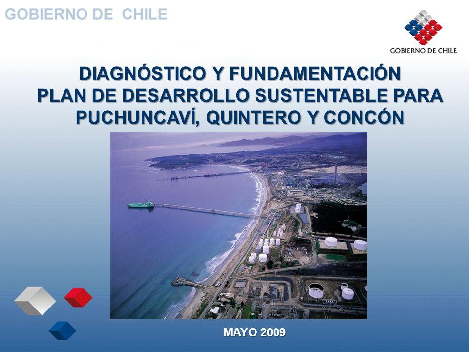 DIAGNÓSTICO Y FUNDAMENTACIÓN PLAN DE DESARROLLO SUSTENTABLE PARA PUCHUNCAVÍ, QUINTERO Y CONCÓN MAYO 2009
