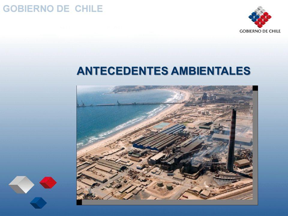 ANTECEDENTES AMBIENTALES Zona Declarada Saturada por SO2 y PM10 en 1993.