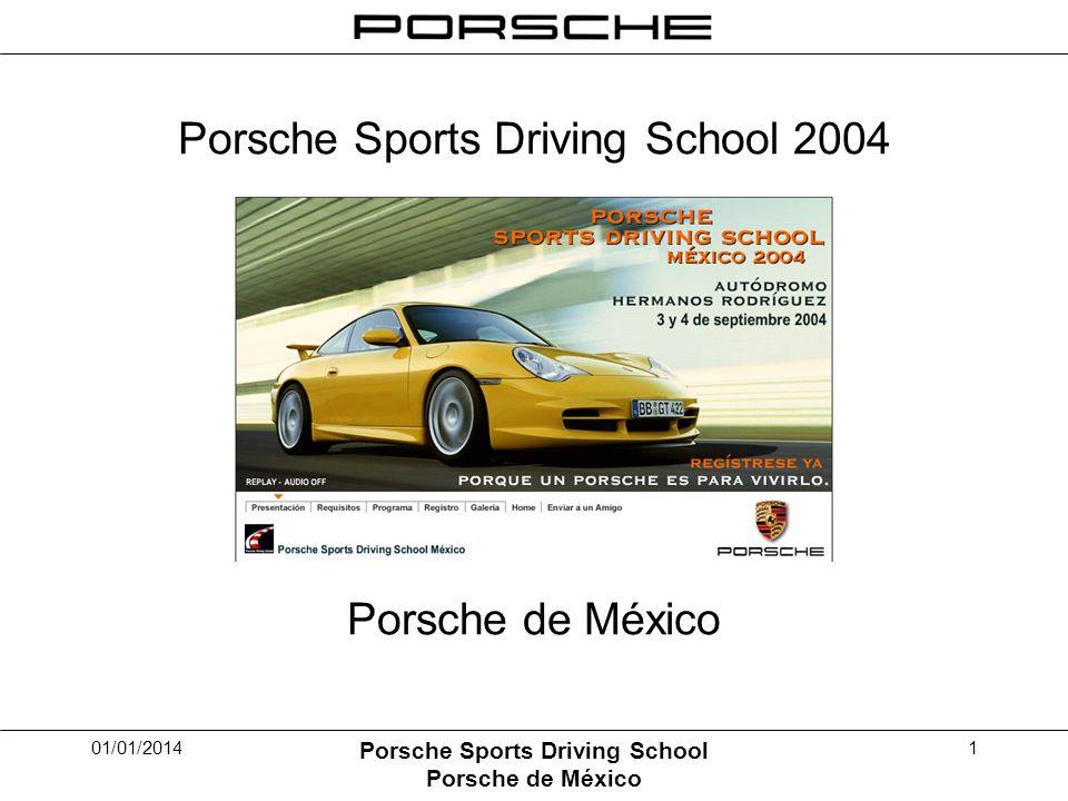 01/01/2014 Porsche Sports Driving School Porsche de México 1 Porsche Sports Driving School 2004 Porsche de México