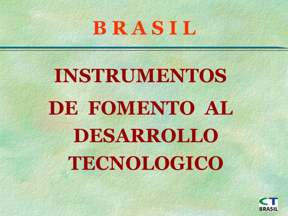 INSTRUMENTOS DE FOMENTO AL DESARROLLO TECNOLOGICO B R A S I L