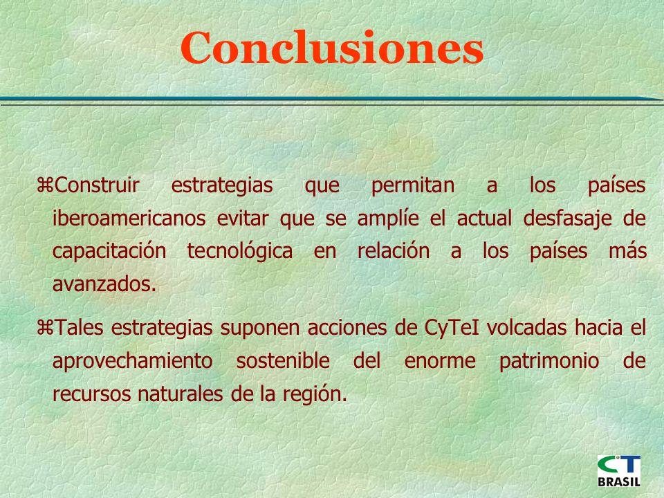 zConstruir estrategias que permitan a los países iberoamericanos evitar que se amplíe el actual desfasaje de capacitación tecnológica en relación a los países más avanzados.
