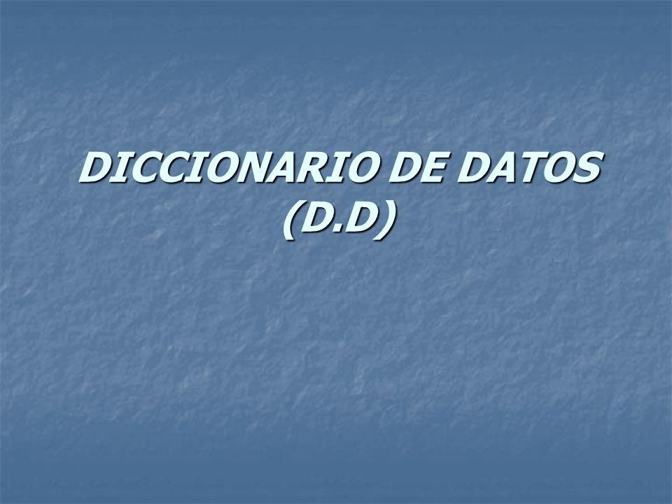 DICCIONARIO DE DATOS (D.D)