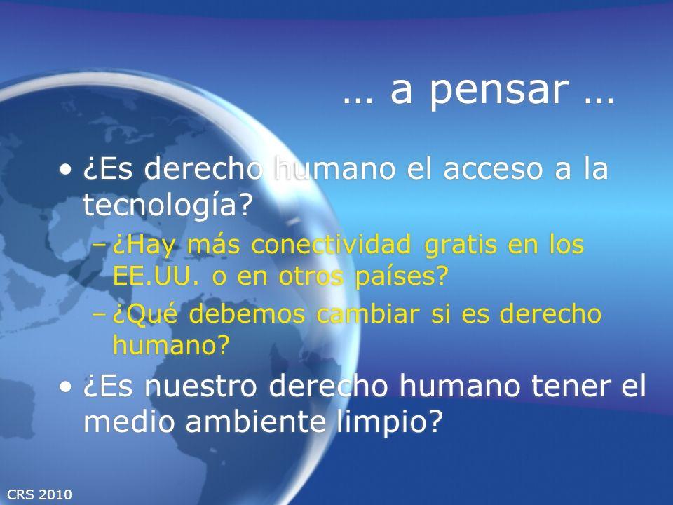 CRS 2010 ¿Qué podemos hacer.