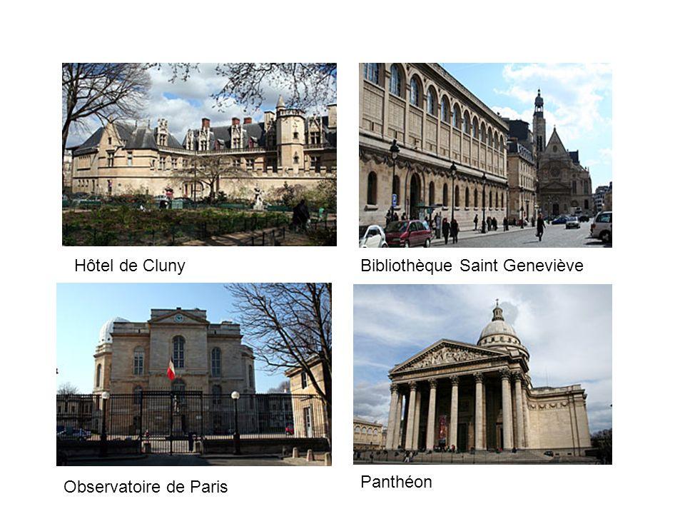 Hôtel de ClunyBibliothèque Saint Geneviève Panthéon Observatoire de Paris
