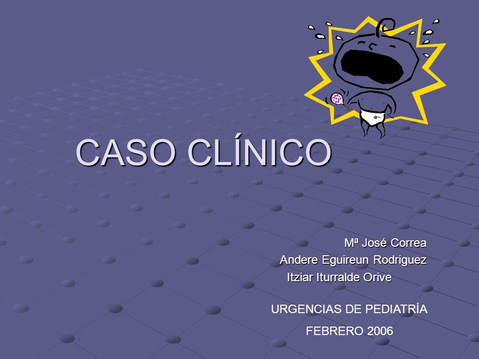 CASO CLÍNICO Mª José Correa Andere Eguireun Rodriguez Itziar Iturralde Orive URGENCIAS DE PEDIATRÍA FEBRERO 2006