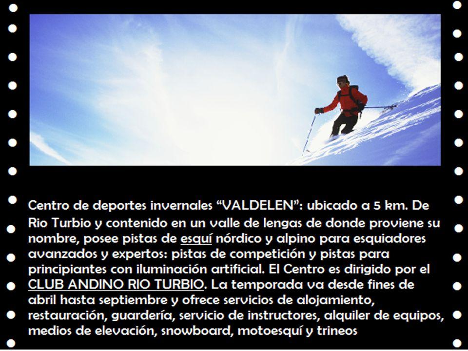 Centro de deportes invernales VALDELEN: ubicado a 5 km. De Rio Turbio y contenido en un valle de lengas de donde proviene su nombre, posee pistas de e