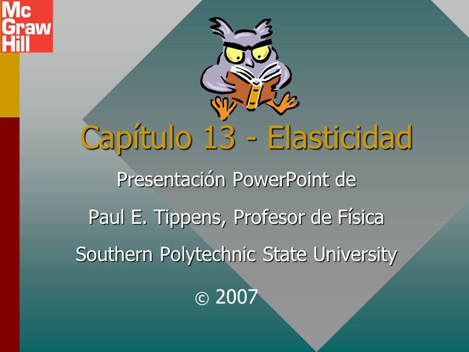 Capítulo 13 - Elasticidad Presentación PowerPoint de Paul E.