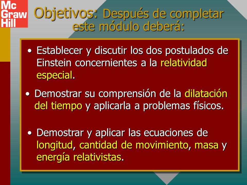 Capítulo 38A - Relatividad Presentación PowerPoint de Paul E. Tippens, Profesor de Física Southern Polytechnic State University Presentación PowerPoin
