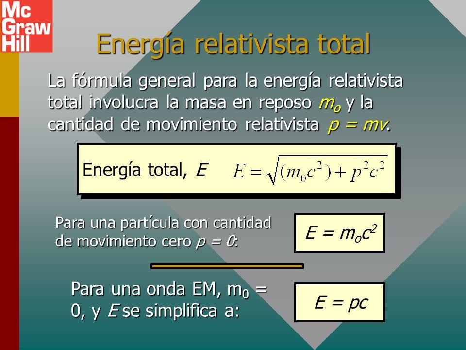 Masa y energía Antes de la teoría de la relatividad, los científicos consideraban masa y energía como cantidades separadas, cada una de las cuales se