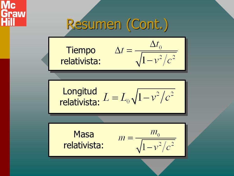 Resumen La Teoría Especial de la Relatividad de Einstein, publicada en 1905, se basó en dos postulados: I. Las leyes de la física son las mismas para
