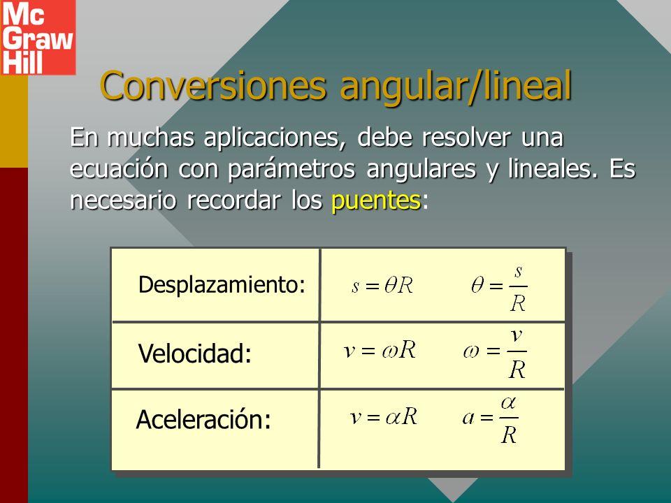 Dos tipos de energía cinética v R P Energía cinética de traslación: K = ½mv 2 Energía cinética de rotación: K = ½I 2 Energía cinética total de un obje