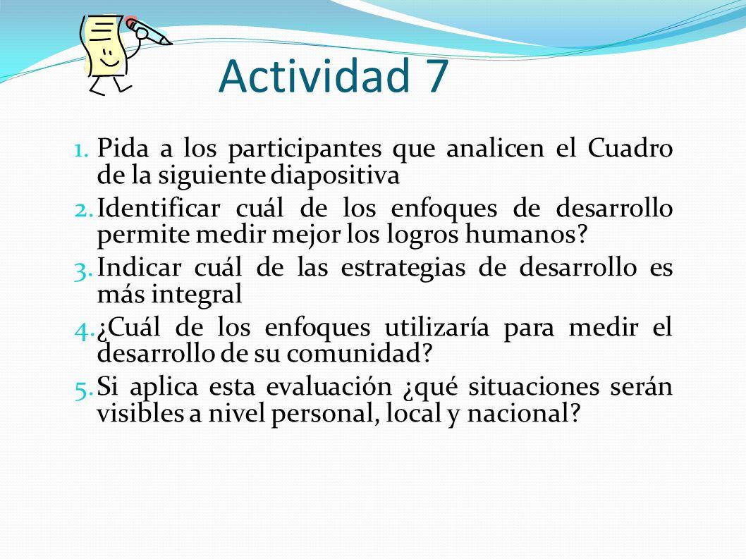 Actividad 7 Aspecto Evaluativo